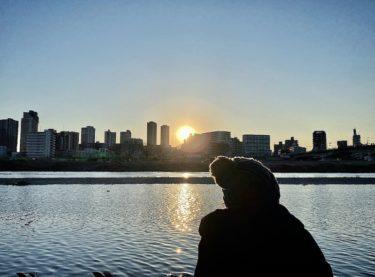 1月最後の夕陽